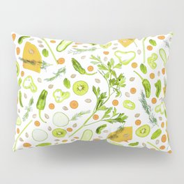 Fruits and vegetables pattern (20) Pillow Sham
