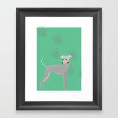 Rocket Greyhound Framed Art Print