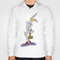 moschino Hoodies featuring Moschino Bugs Bunny  by Claudio Velázquez
