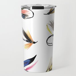 Classic Salmon Fishing Flies Travel Mug
