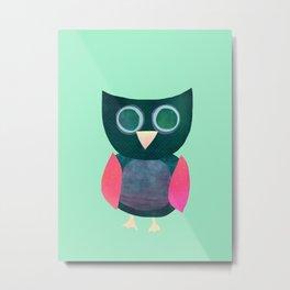 Cute Owl Illustration Metal Print