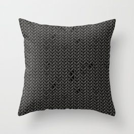 Chain Mail Texture Throw Pillow