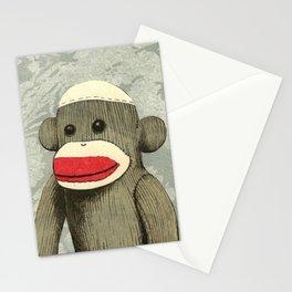 Sock Monkey Portrait Stationery Cards