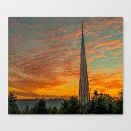 Nature Sculpture & Sunset Canvas Print