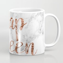 Nap queen - rose gold on marble Coffee Mug