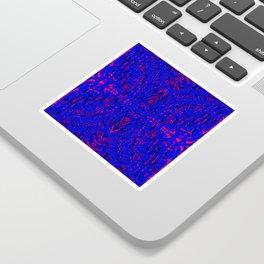 blue on red symmetry Sticker