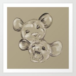 Two Sides to Every Possum Art Print