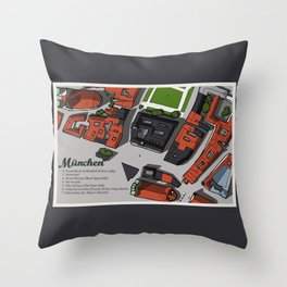 Hand-Drawn Munich Throw Pillow