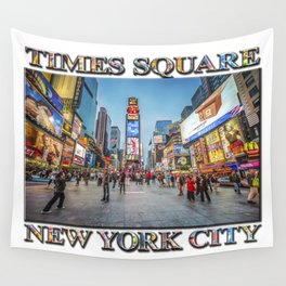 Times Square Sparkle (with typography) Wall Tapestry