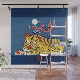 Sleeping Tiger Wall Mural