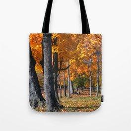 Autumn Golden Leaves Tote Bag