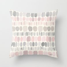 Soft Blush Stones Throw Pillow