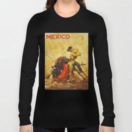 Vintage Mexico Bullfighting Travel Long Sleeve T-shirt