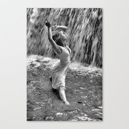 Waterfall Dancing Canvas Print