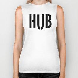 HUB Block Letters (Black) Biker Tank