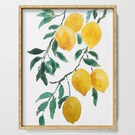 yellow lemon 2018 Serving Tray