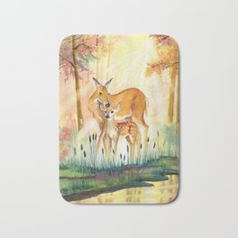 Mom and Little Deer Bath Mat