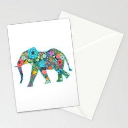 Floral Elephant - vivid Stationery Cards