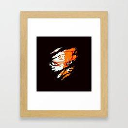 Face of Naruto Framed Art Print