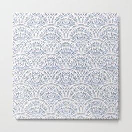 Bohemian Scallops - Cobalt Metal Print