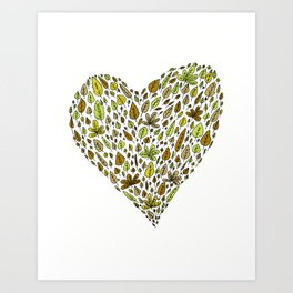 Lovely green leaves Art Print