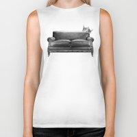 sofa Biker Tanks featuring Sofa King by sustici