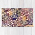 Detroit Michigan City Map by artpause