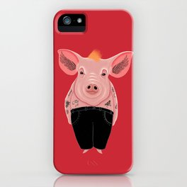 Cool Pig with Tattoos iPhone Case