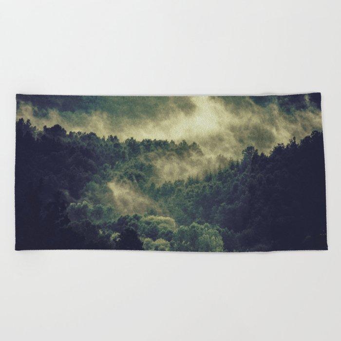 Journey Through The Dark Beach Towel