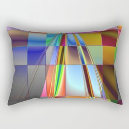 highway to rectangular city Rectangular Pillow