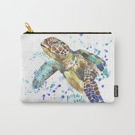Sea Turtle Pura Vida Watercolor Carry-All Pouch