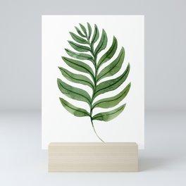Simple leaves and seamles leafy illustration Mini Art Print