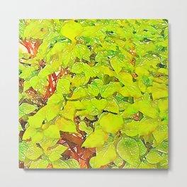 Repetitive plants - Botanical Digital Art Metal Print