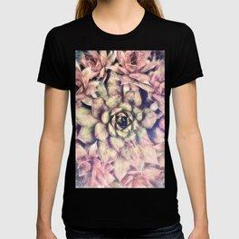Sempervivum, Succulent Red  Mandala T-shirt