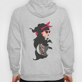 fashion girl with tattoo Hoody