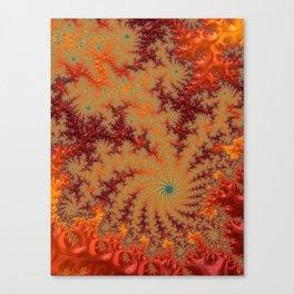Crimson Alley - Fractal Art Canvas Print