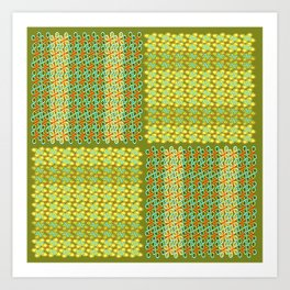 Westwork Patchwork II -Yello Art Print