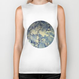 Shadows in Blue and Cream, Marble Biker Tank