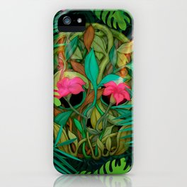 jungle skull iPhone Case