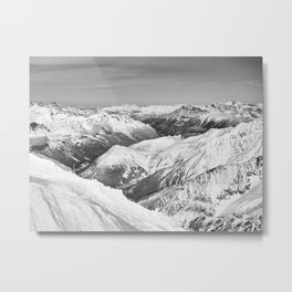 Charmonix Mont-Blanc France Metal Print