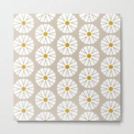 Botanical Daisies Minimal Pattern - #03 Metal Print