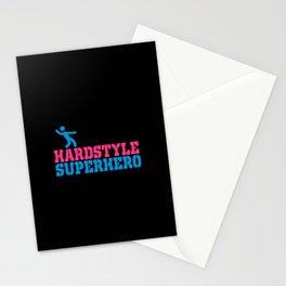 Hard style superhero rave design Stationery Cards