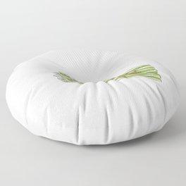 Platter Tire Asparagus Joke Gift Funny Meme Floor Pillow