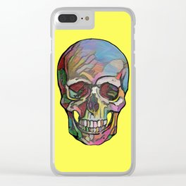 The Happy Skull (Yelow) Clear iPhone Case