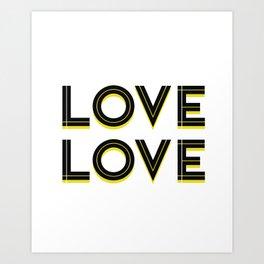 Love Love Art Print