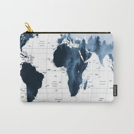 ALLOVER THE WORLD-Woods fog map Carry-All Pouch