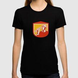 Electrician Clutching Lightning Bolt Shield T-shirt