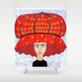 20th Century English Boudoir Hat Shower Curtain