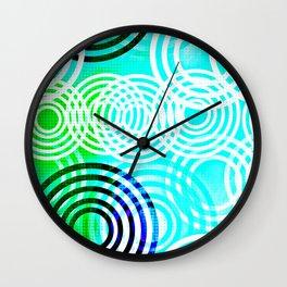 Aqua Circles Wall Clock