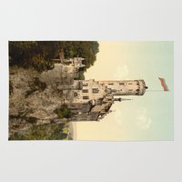 lichtenstein Area & Throw Rugs featuring Lichtenstein Castle by BravuraMedia